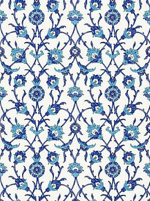 Schumacher Wallpaper - Sultans Trellis - Peacock 5006700