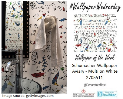freehand wallpaer schumacher interior decor wallpaper wednesday wallpaper of the week birds trends