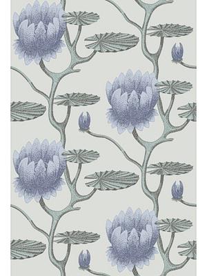 Cole & Son Wallpaper - Summer Lily - Blue/Aqua/Pearl  CS 95-4024