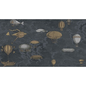 Cole & Son Wallpaper - Macchinne Volanti - Midnight CS 97-1002