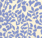 Quadrille Wallpaper - Arbre De Matissa Reverse - French Blue On Off White 2030-04WP