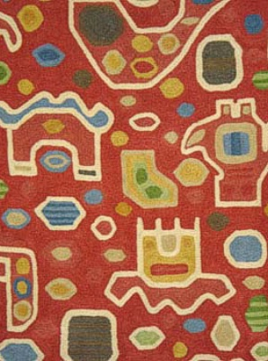 Clarence House Fabric - Aztec Crewel - Multi