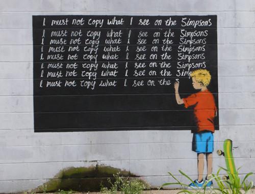 Grafitti art by Banksy