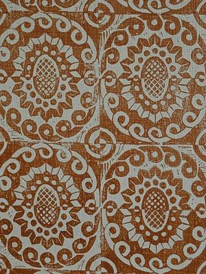Lee Jofa Fabric - Pineapple on Rustic Pumpkin BFC-3629-12