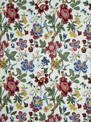 GP&J Baker Fabric - Persian Pomegranate - Aqua/Multi BP10464-3