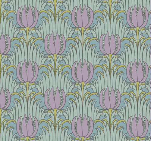 """Birds & Tulips"" textile designer by Charles Francis Annesley Voysey, 1896"