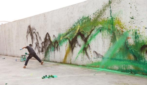 Beginnings of Grafitti Painting by Hua TunanBeginnings of Grafitti Painting by Hua Tunan