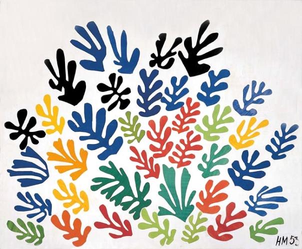 Henri Matisse Painting - La Gerbe, 1953