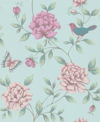 Graham & Brown Wallpaper - Isabella - Blue