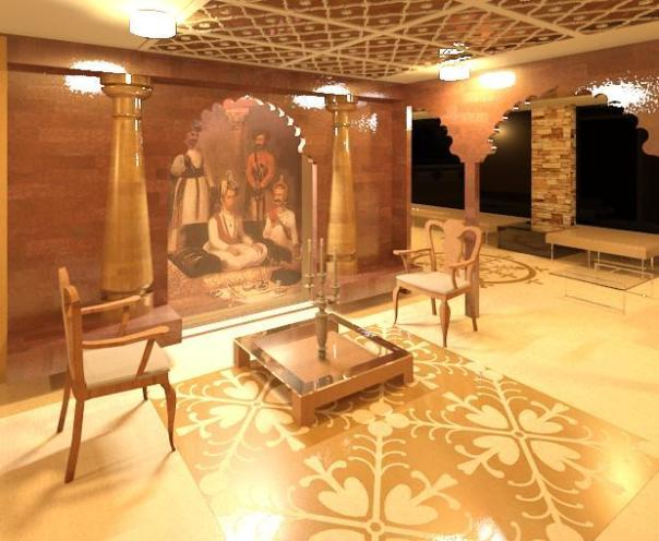 Indian trellis on ceiling - Interior Decor