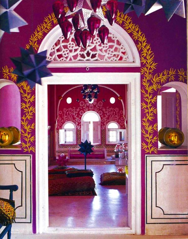 Indian Trellis Features in Interior Decor