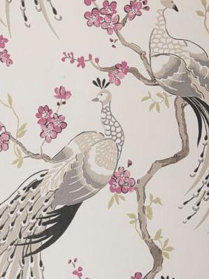 Clarke & Clarke Wallpaper - Indira - Charcoal