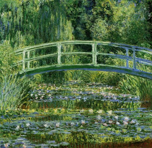 Claude Monet Waterlily Pond Painting Impressionist
