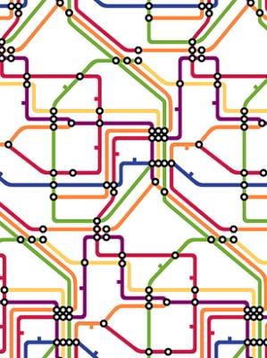York Wallpaper - Take The A Train - RB4296
