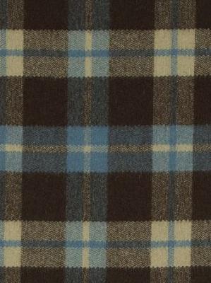 Clarke & Clarke Fabric - Savile - Chocolate TurquoiseClarke & Clarke Fabric - Savile - Chocolate Turquoise