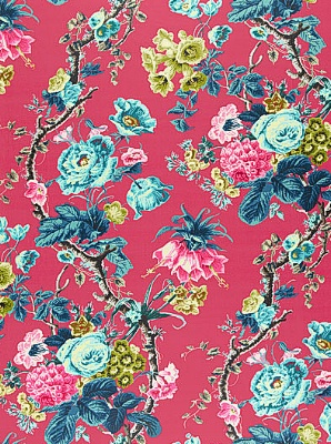 Schumacher Fabric - Elizabeth - Multi Rouge 175501