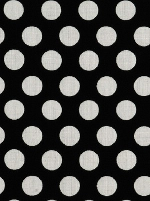 Scalamandre Fabric - Polka Dot - Black and Off White 20402M-016