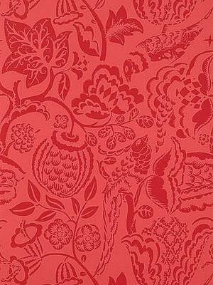 Schumacher Wallpaper - Ucello - Red 5003714