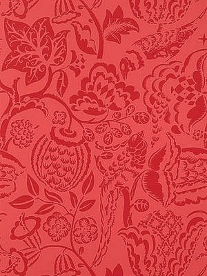 Schumacher Wallpaper - Ucello - Red 5003714