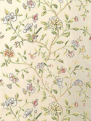 Schumacher Wallpaper - Annabelle Vine - Pewter 5004404