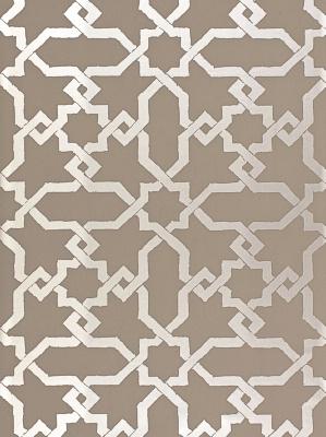 Schumacher Wallpaper - Cordoba - Taupe Silver 5005922