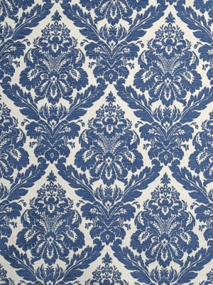 Stroheim Fabric 1029B SUZANNE - S0550 Cobalt On Lace 6019101