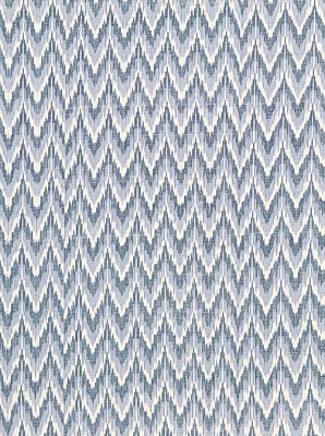 Schumacher Fabric - Adari Cotton Ikat - Denim 66941