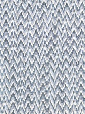 Schumacher Fabric - Adari Cotton Ikat - Denim 66941