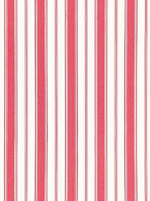 Schumacher Fabric - Branca Stripe - Rouge 68311