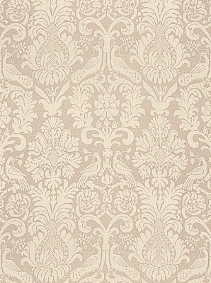 Schumacher Fabric - Anna Damask - Greige 68430