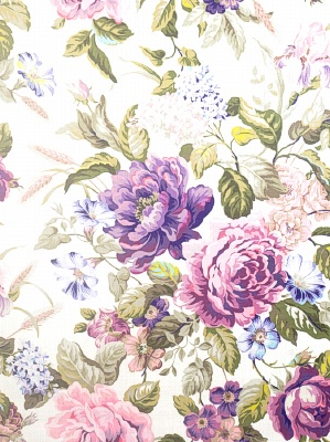 S. Harris Fabric - Super Chintz - Ultra Violet 8398802