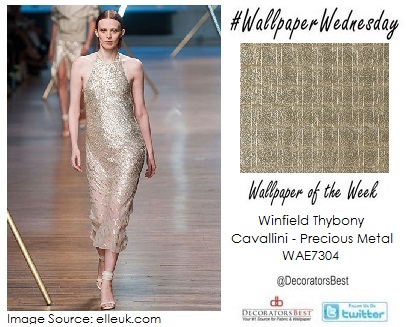 Metallic Winfield Thybony Wallpaper trends of the week fashion week 2013 textured interior designs