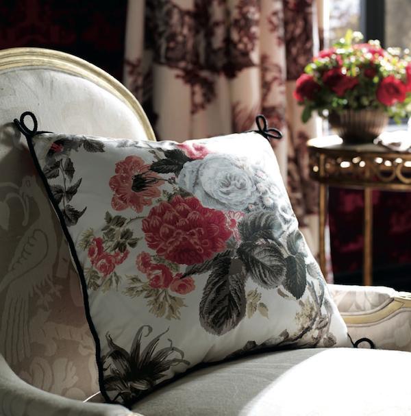 interior decor collaborations trends fabric friday market week schumacher florals allesandre branca pillows