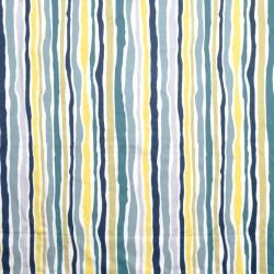 S. Harris Fabric - Landscape Stripe - Aqua