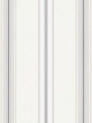 Ralph Lauren Wallpaper - Dunston Stripe - Platinum LWP65718W