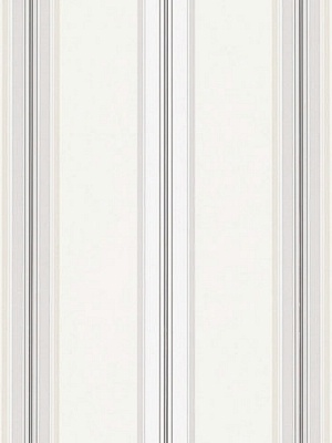 Ralph Lauren Wallpaper - Dunston Stripe - Platinum LWP65718W