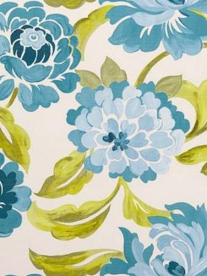 Clarke & Clarke Fabric - Margherita - Aqua