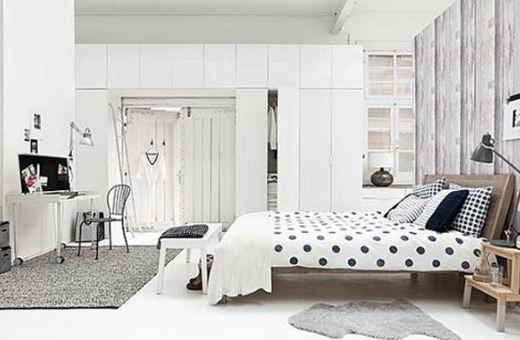 polka dot bedroom - interiro decor