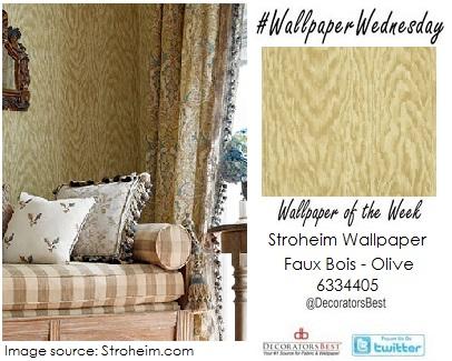 stroheim fabricut fabrics wallpaper of the week wallpaper wednesday interior decor trends