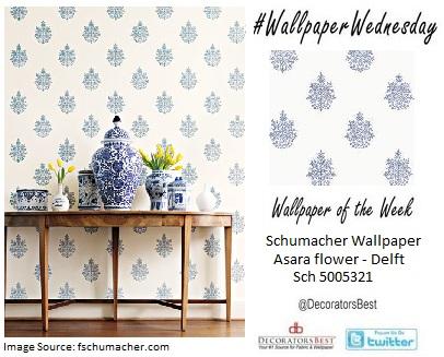 interior decor schumacher jaipur wallpaper designs indian inspired hand blocked wallpaper blue and white
