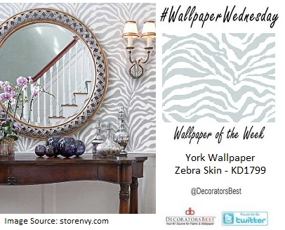 light blue zebras wallpaper by york wallcoverings interior decor trends