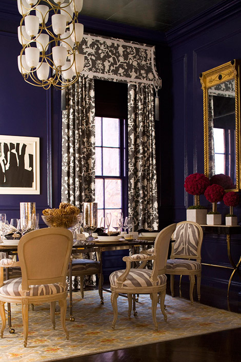 zebra print elegant dining room interior decor
