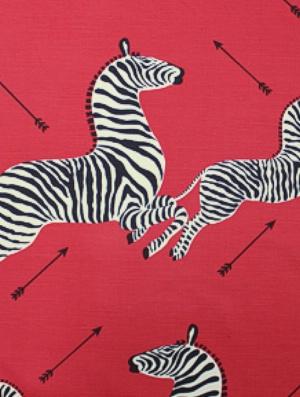 Scalamandre Fabric - Zebras - Masai Red 16496-001