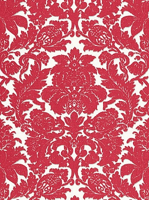 Schumacher Fabric - Melograno - Rouge/Grey 175450