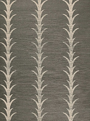 Schumacher Wallpaper - Acanthus Stripe - Shadow 5006050