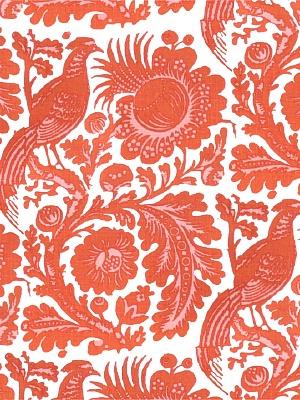 Scalamandre Fabric - Resist Print - Tangerine 6218-003