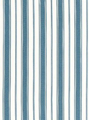 Schumacher Fabric - Branca Stripe - Prussian Blue 68312