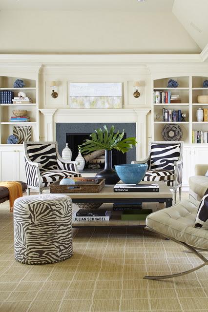 Zebra Stripe Living Room Decor