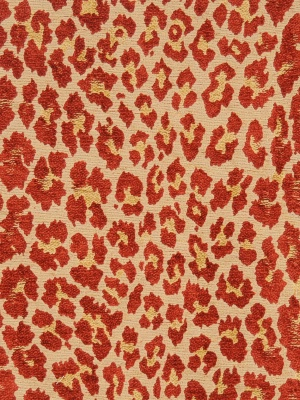 S. Harris Fabric - Leopard - Flame 8545907
