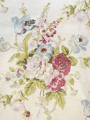 Lee Jofa Fabric - Grenville Glazed Chintz - Pink/Green BFC-3626-73